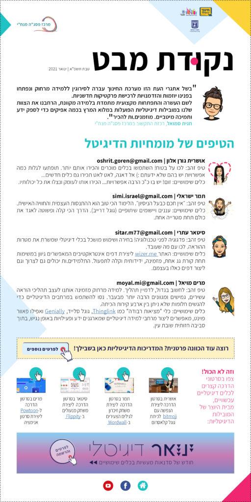 נקודת מבט (טיפים ממומחיות הדיגיטל) - קישור לקובץ pdf